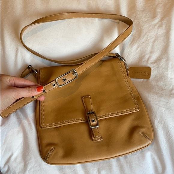 Coach Light Brown Leather Shoulder Bag